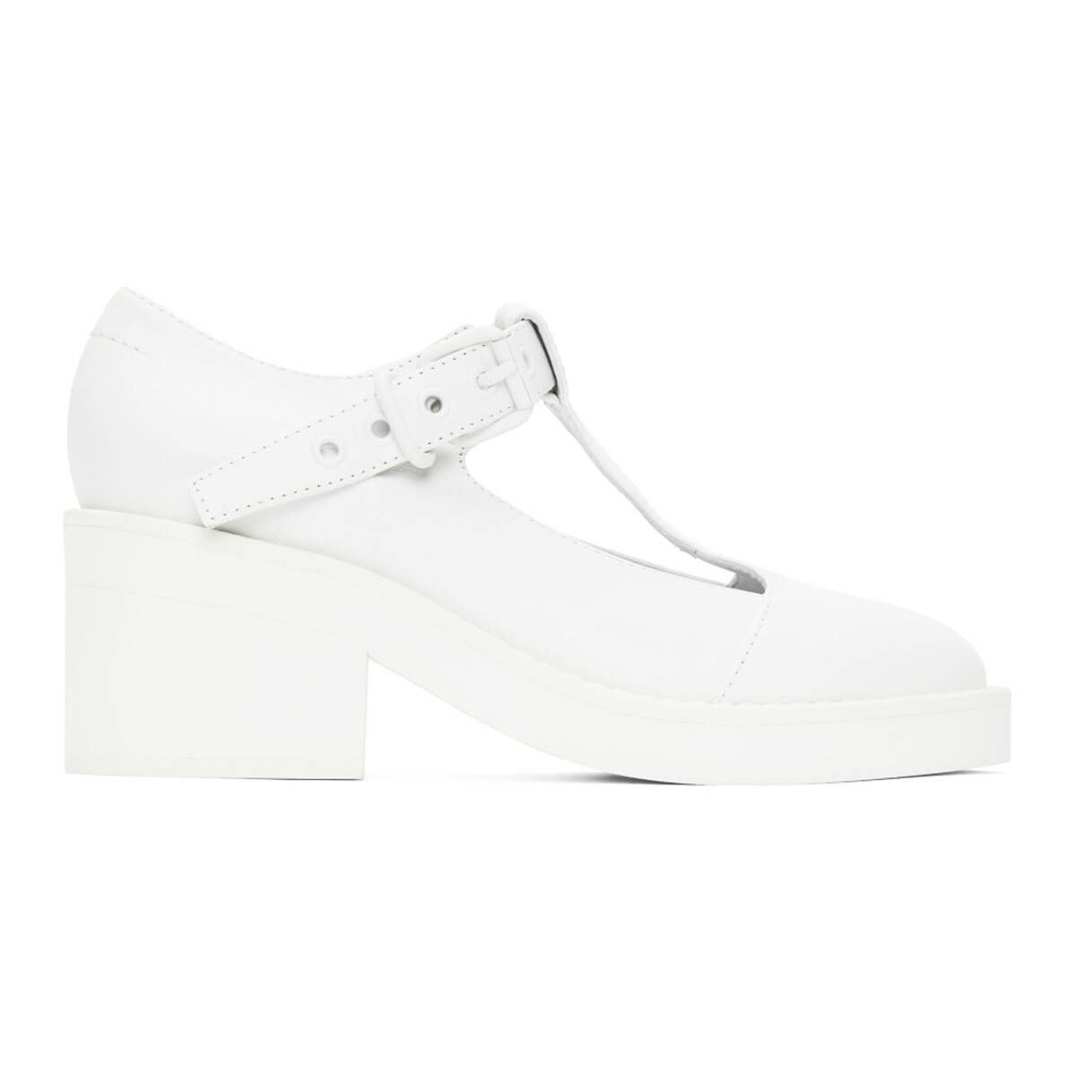 MM6 Maison Margiela White Mary Jane Oxfords Ssense USA WOMEN Women SHOES Womens LEATHER SHOES