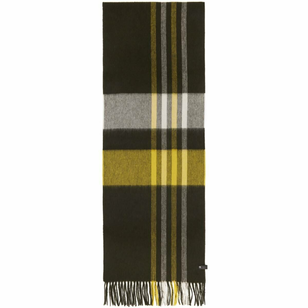Mackage Yellow and Khaki Wool Ranger Scarf Ssense USA MEN Men ACCESSORIES Mens SCARFS