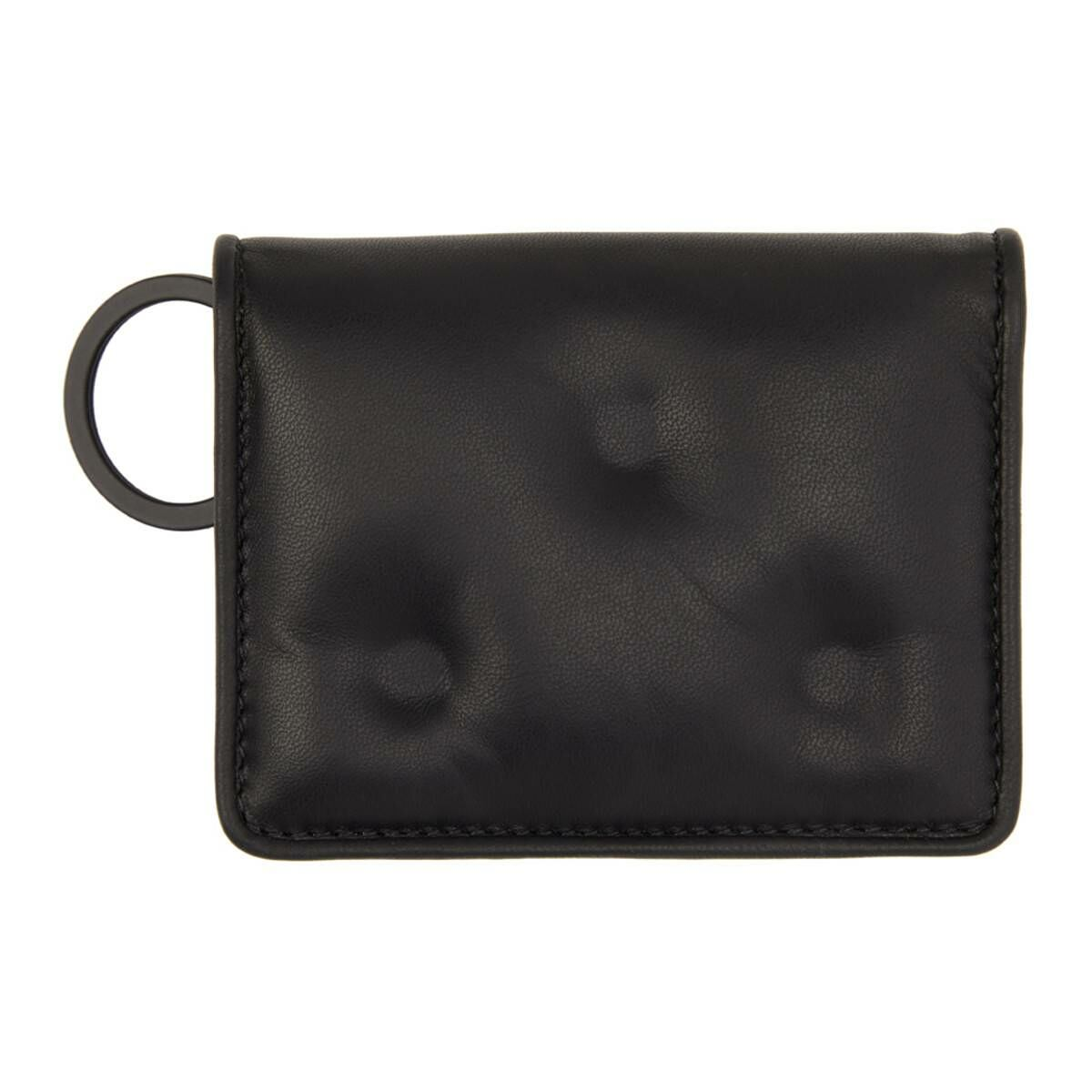 Maison Margiela Black Glam Slam Card Holder Ssense USA MEN Men ACCESSORIES Mens WALLETS