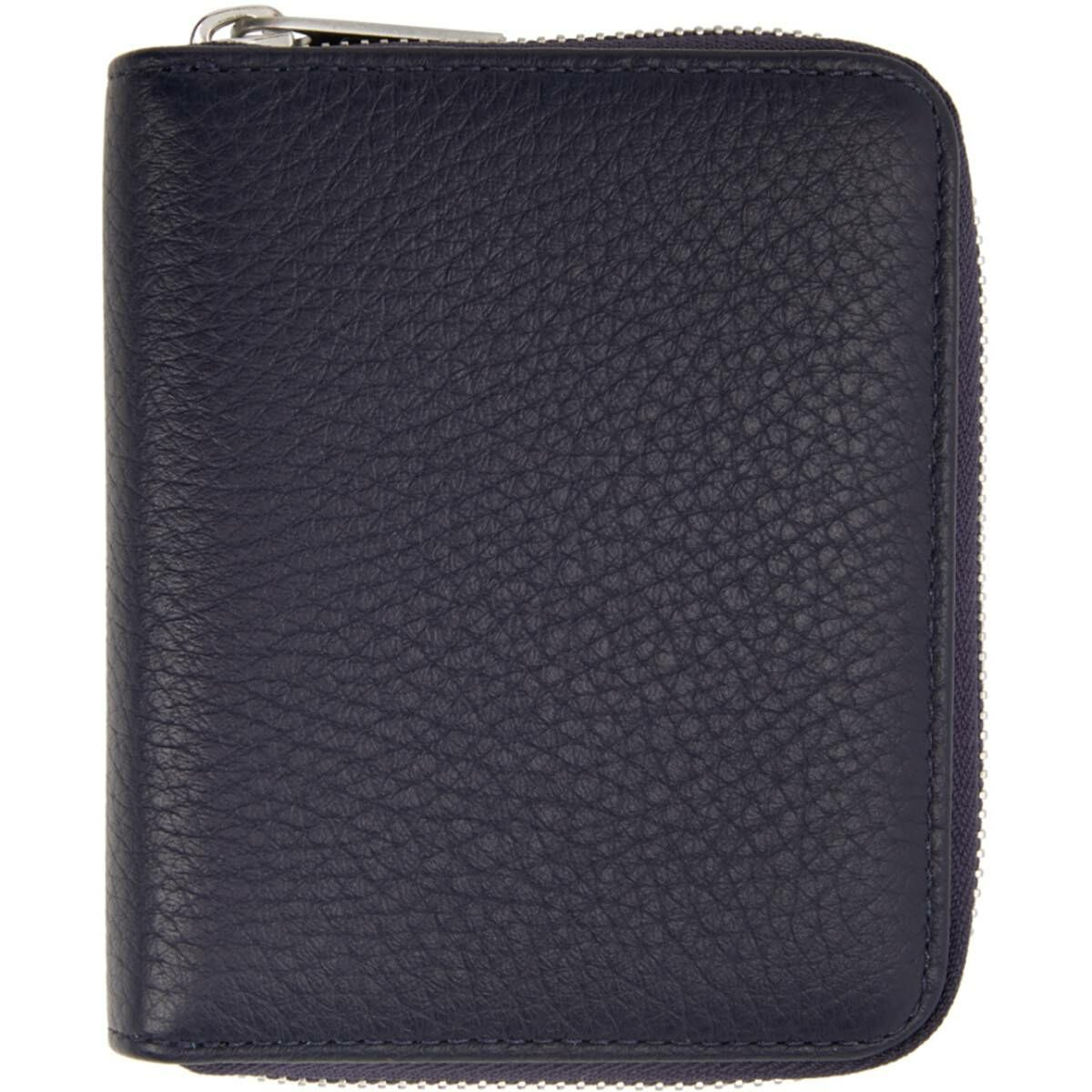 Maison Margiela Navy Zip-Around Wallet Ssense USA MEN Men ACCESSORIES Mens WALLETS