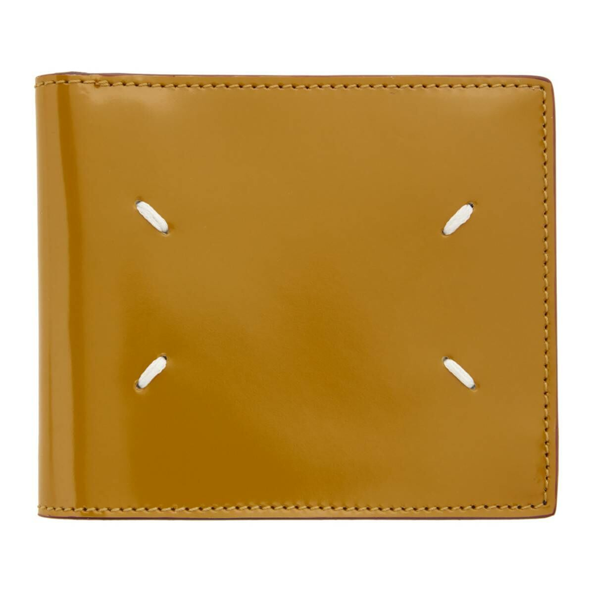 Maison Margiela Yellow Thrush Wallet Ssense USA MEN Men ACCESSORIES Mens WALLETS
