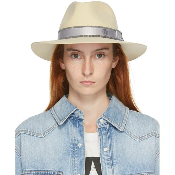 Maison Michel Beige Wool Rico Panama Hat Ssense USA WOMEN Women ACCESSORIES Womens HATS
