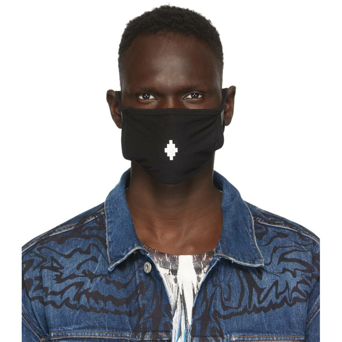 Marcelo Burlon County of Milan Black Cross Face Mask Ssense USA MEN Men ACCESSORIES Mens SCARFS