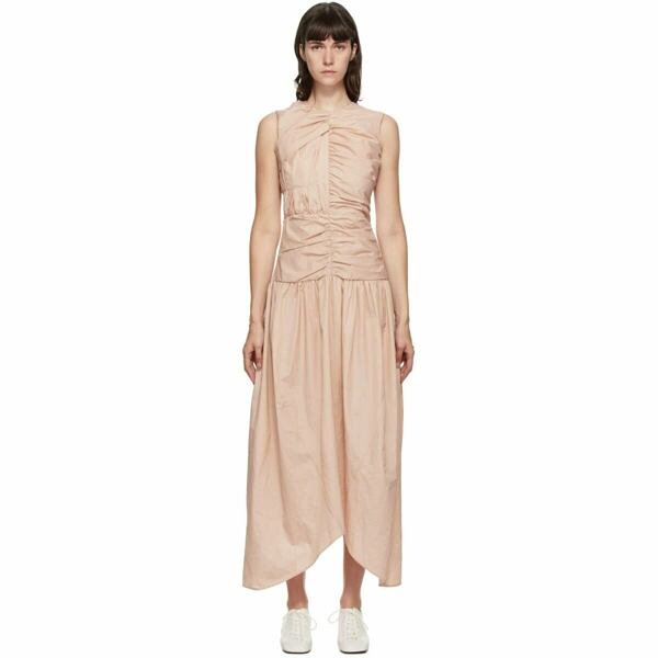 Markoo Pink Gathered Dress Ssense USA WOMEN Women FASHION Womens DRESSES