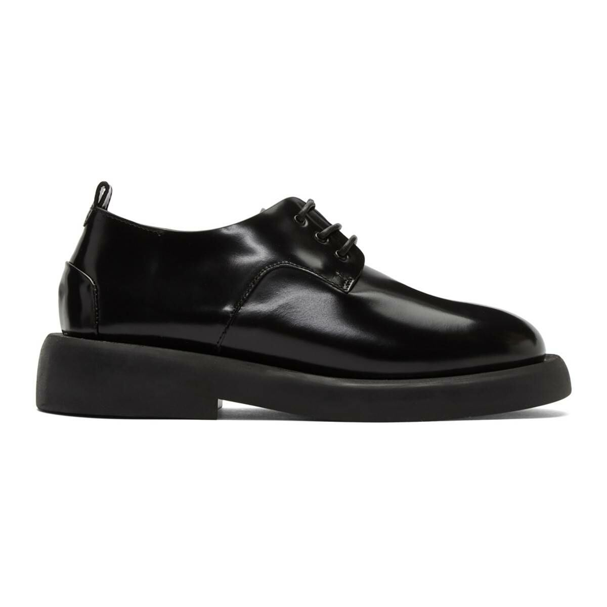 Marsell Black Gomme Gommello Derbys Ssense USA WOMEN Women SHOES Womens LEATHER SHOES