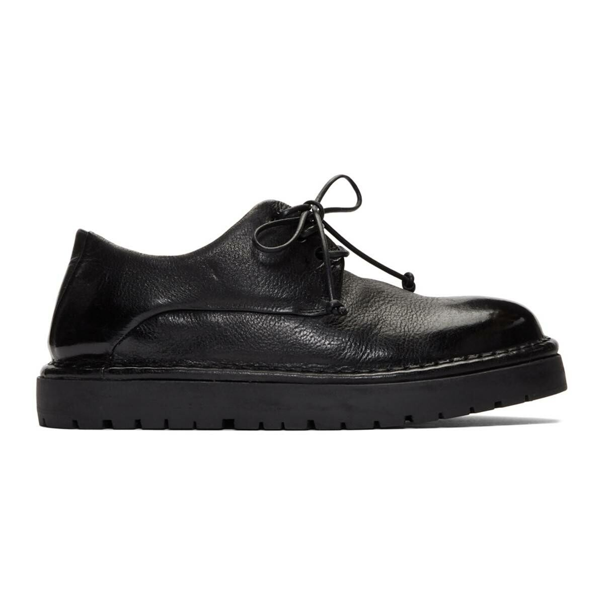 Marsell Black Gomme Pallottola Derby Oxfords Ssense USA WOMEN Women SHOES Womens LEATHER SHOES