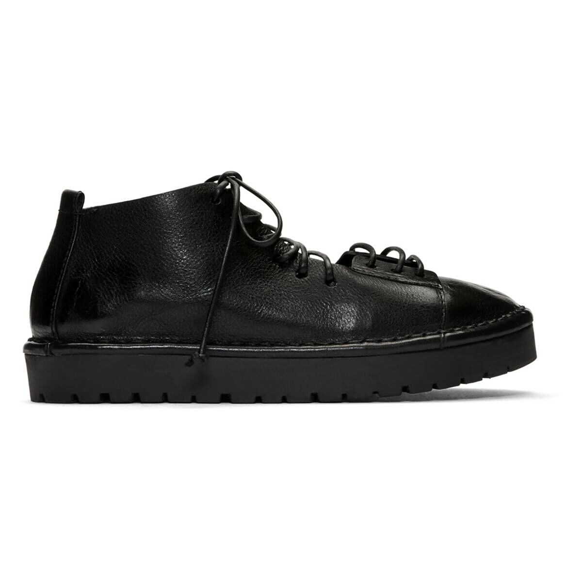 Marsell Black Gomme Sancrispa Alta Pedula Oxfords Ssense USA WOMEN Women SHOES Womens LEATHER SHOES