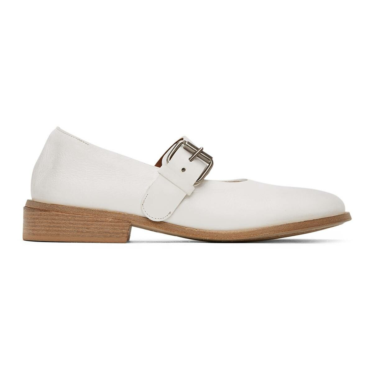 Marsell White Buckle Marcellina Shoes Ssense USA WOMEN Women SHOES Womens LEATHER SHOES