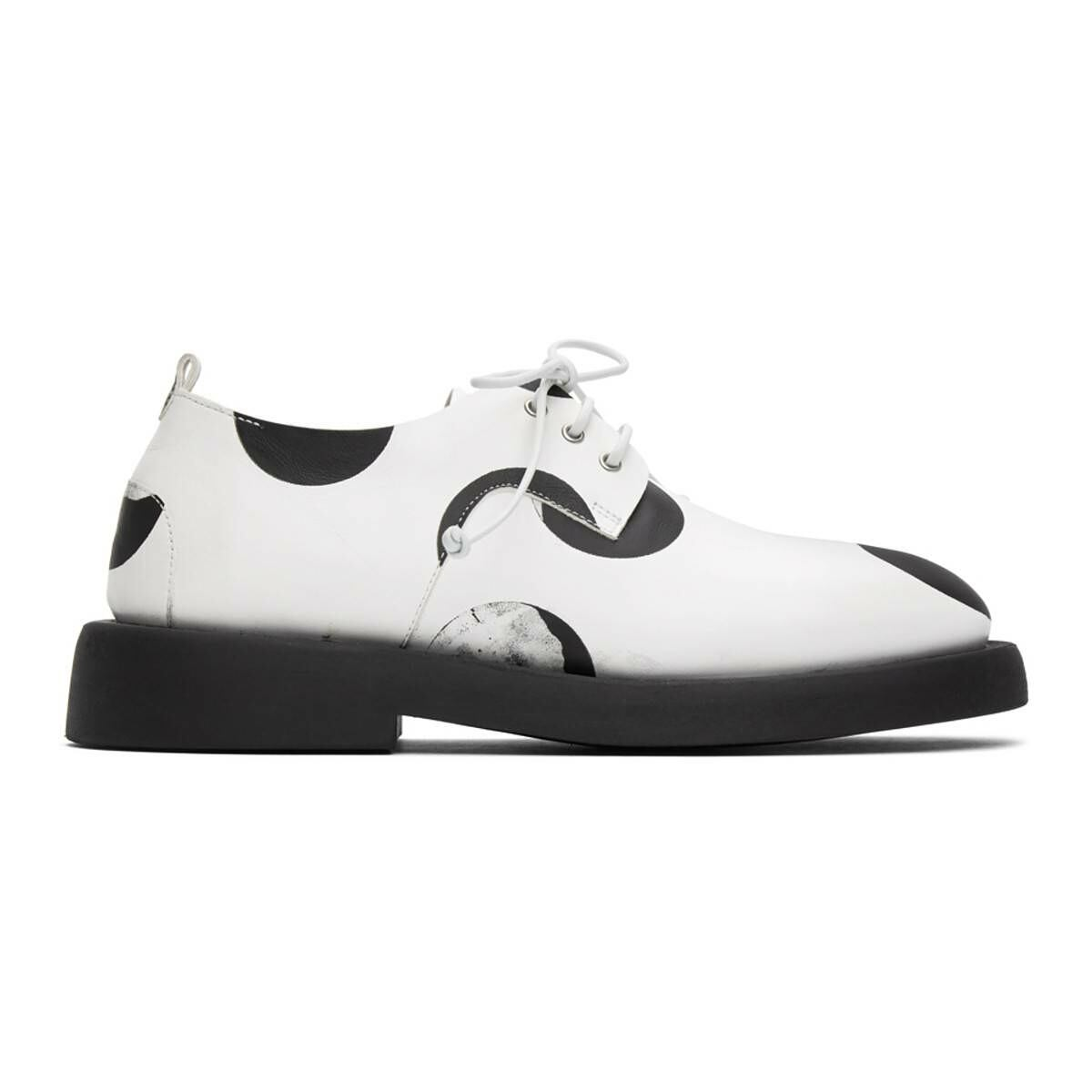 Marsell White and Black Dotted Gommello Derbys Ssense USA MEN Men SHOES Mens FORMAL SHOES