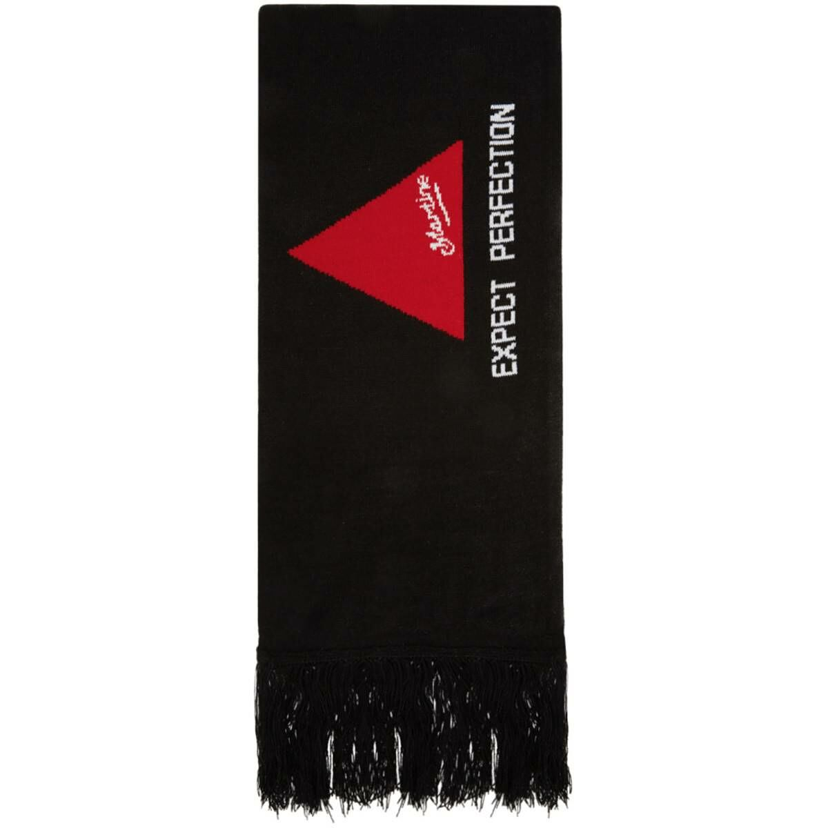 Martine Rose SSENSE Exclusive Green and Black Football Scarf Ssense USA MEN Men ACCESSORIES Mens SCARFS