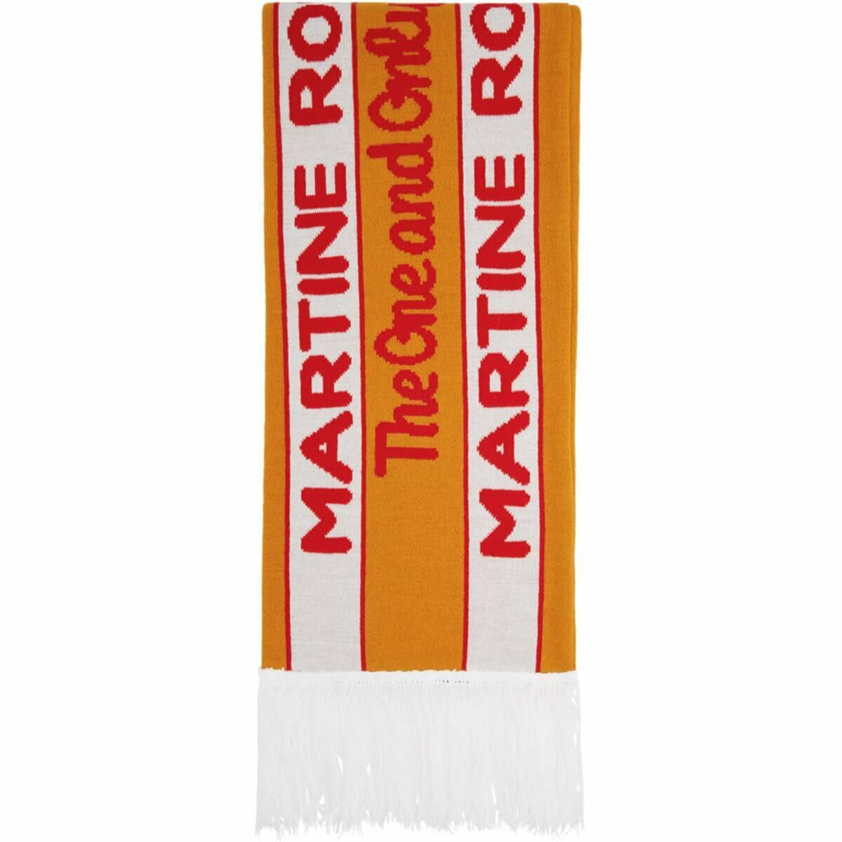 Martine Rose SSENSE Exclusive Orange and Green Football Scarf Ssense USA MEN Men ACCESSORIES Mens SCARFS
