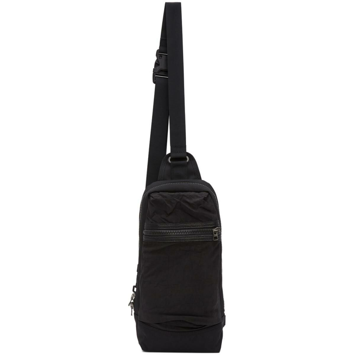 Master-Piece Co Black Rebirth Project Edition Recycled Airbag Messenger Bag Ssense USA MEN Men ACCESSORIES Mens BAGS