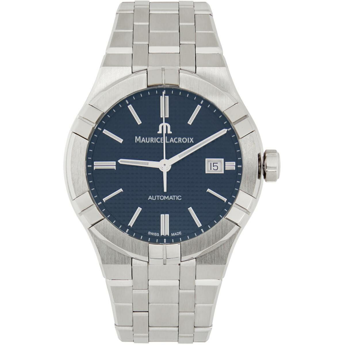 Maurice Lacroix Blue and Silver Aikon Automatic Watch Ssense USA MEN Men ACCESSORIES Mens WATCHES