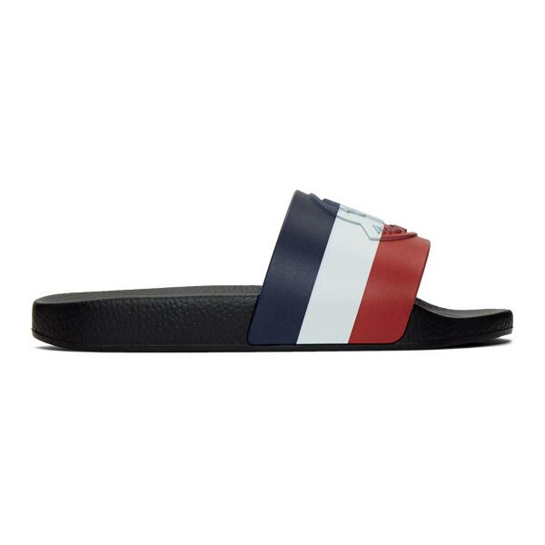 Moncler Black Basile Slides Ssense USA MEN Men SHOES Mens SANDALS