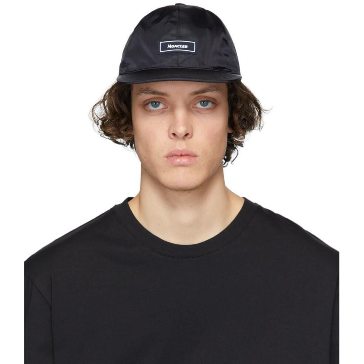 Moncler Navy Logo Cap Ssense USA MEN Men ACCESSORIES Mens CAPS