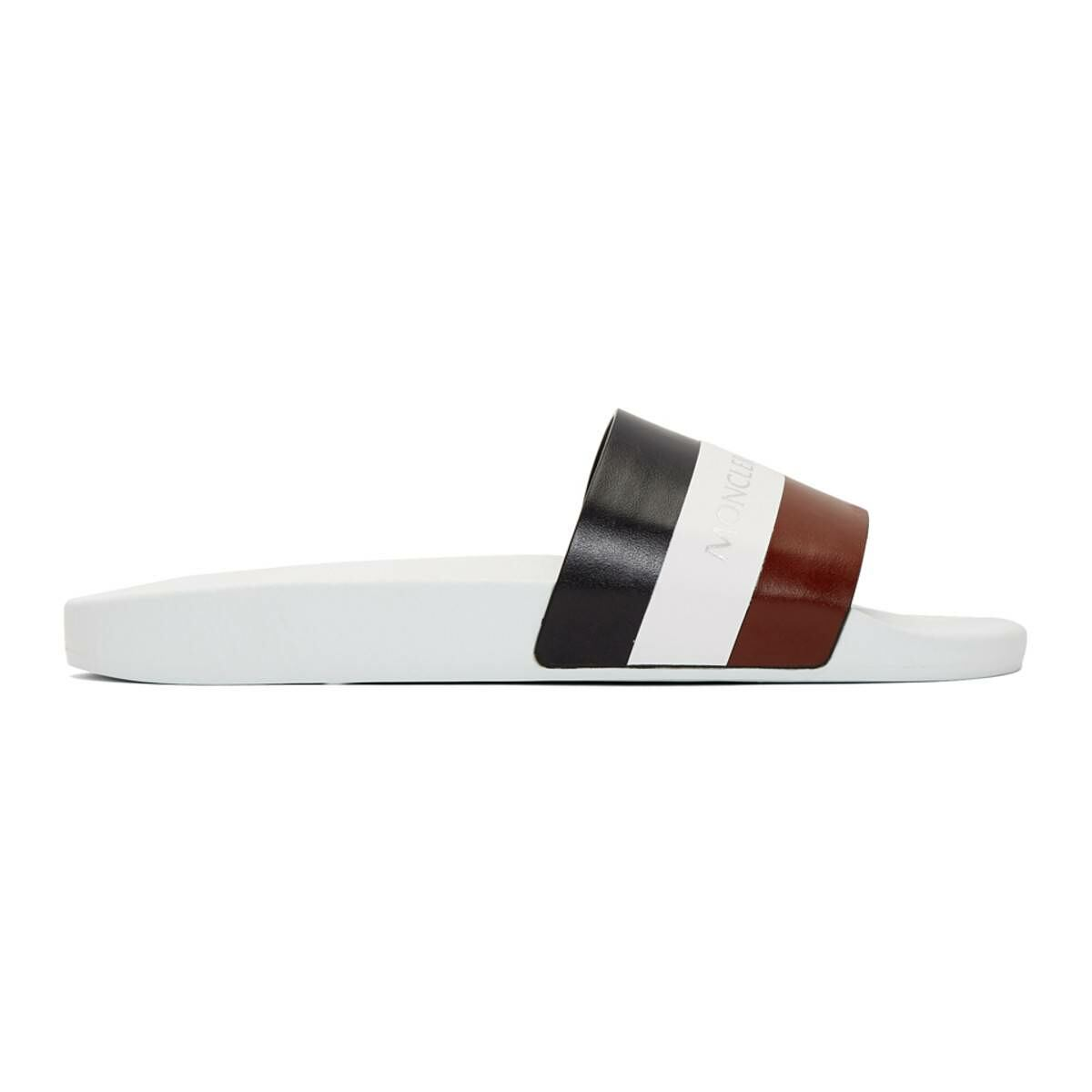 Moncler White Basile Slides Ssense USA MEN Men SHOES Mens SANDALS