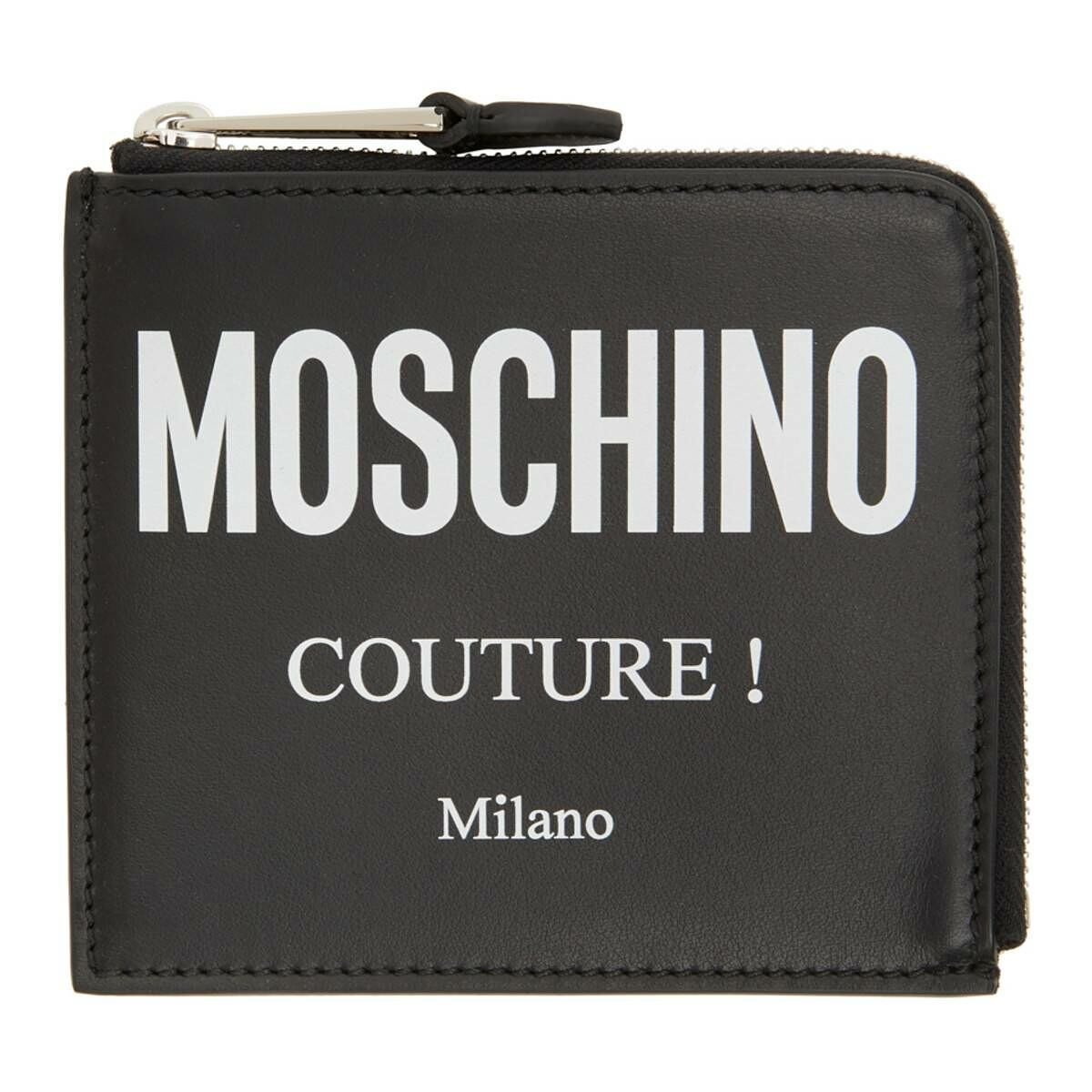Moschino Black Small Fantasy Print Wallet Ssense USA MEN Men ACCESSORIES Mens WALLETS