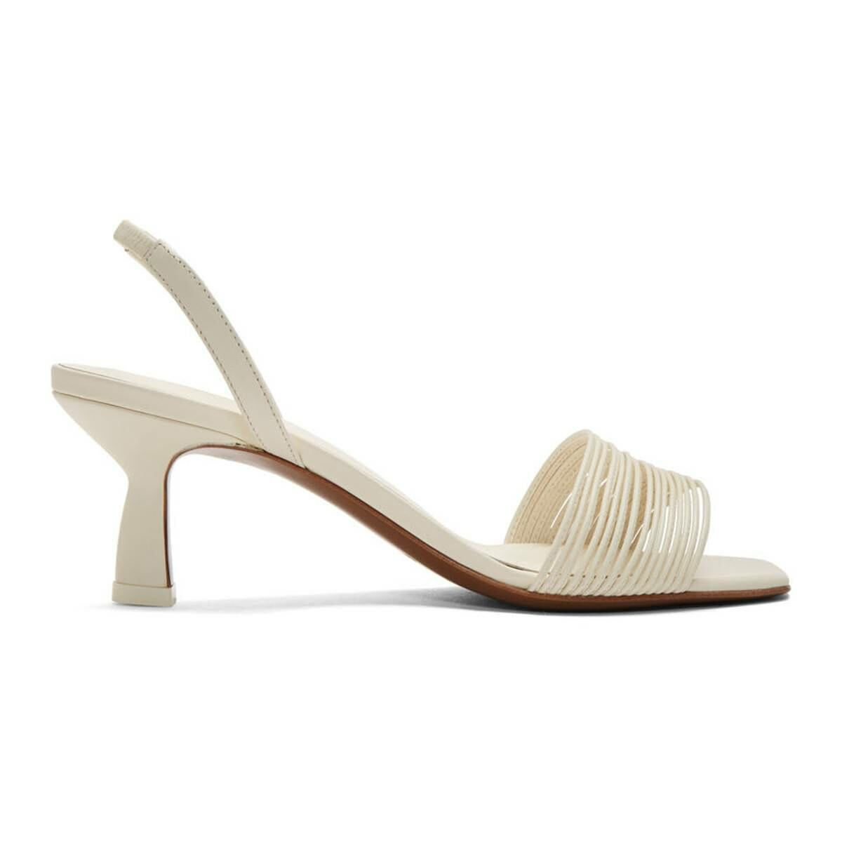 NEOUS Off-White Rossi 55 Slingback Heeled Sandals Ssense USA WOMEN Women SHOES Womens SANDALS