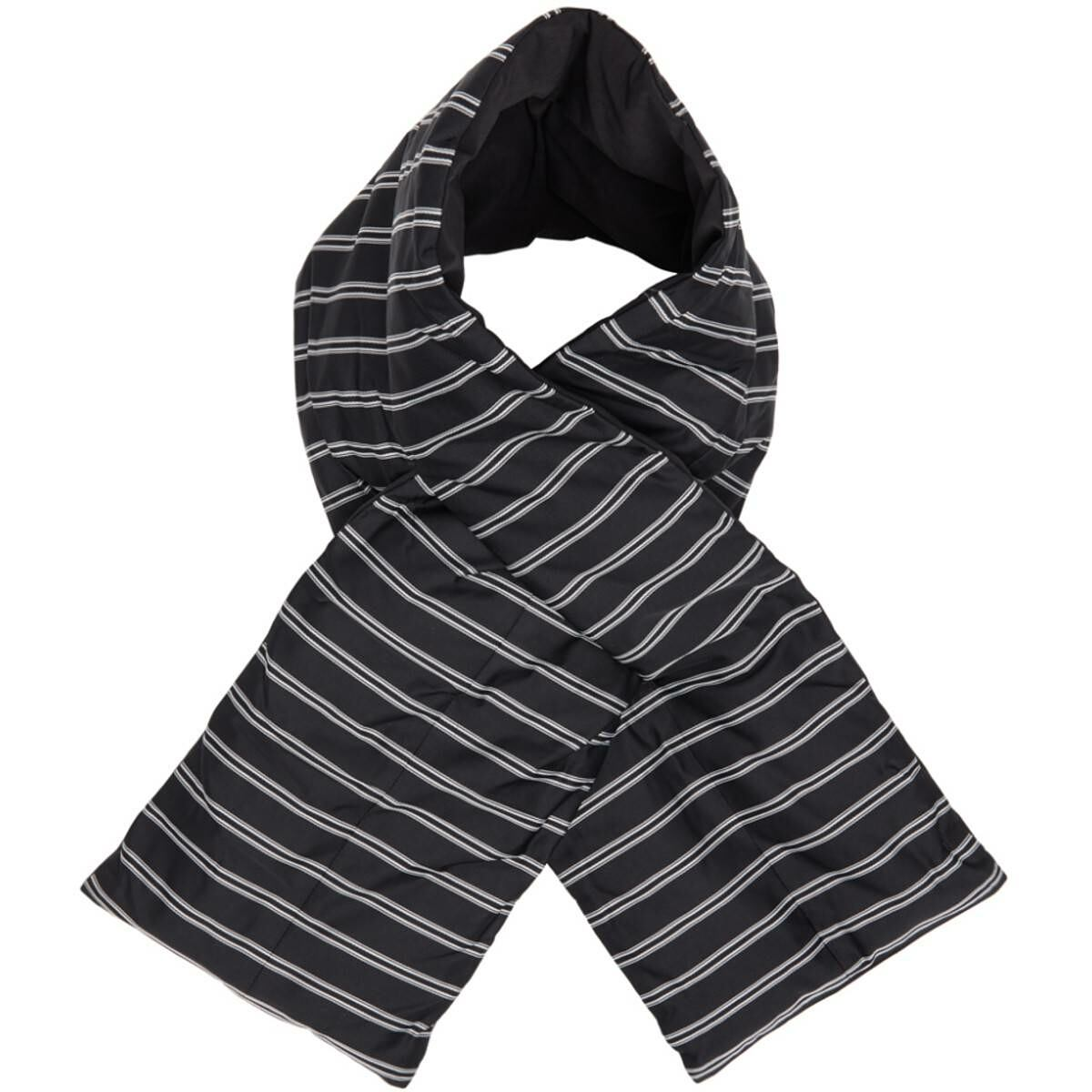 Nanamica Black Down Striped Muffler Scarf Ssense USA MEN Men ACCESSORIES Mens SCARFS