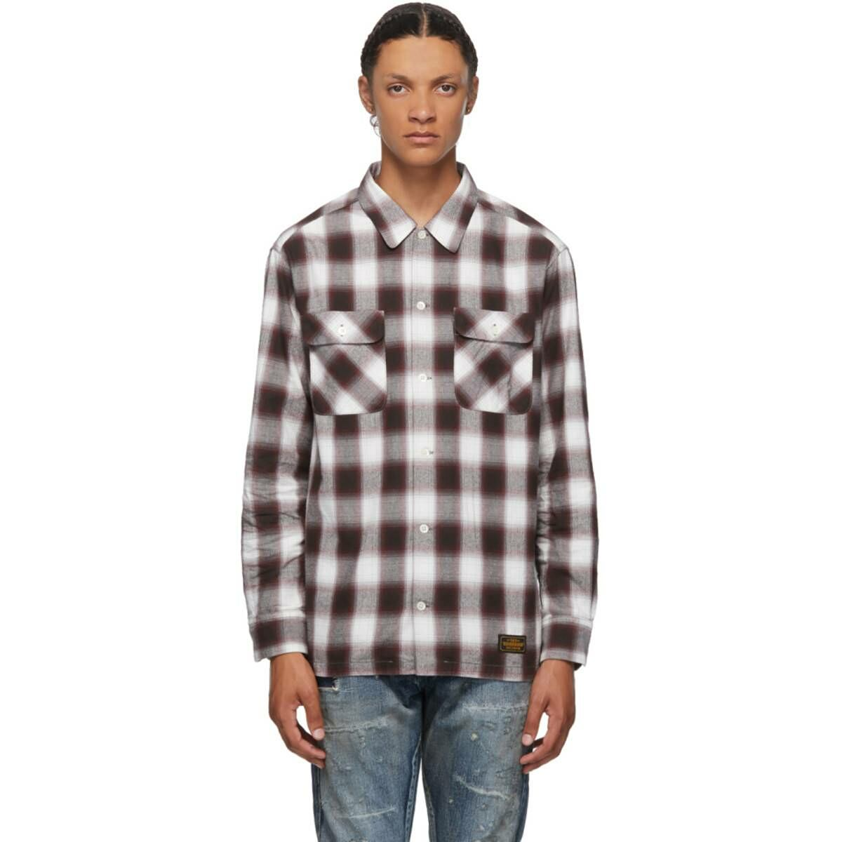 Neighborhood Red BandC Shirt Ssense USA MEN Men FASHION Mens SHIRTS