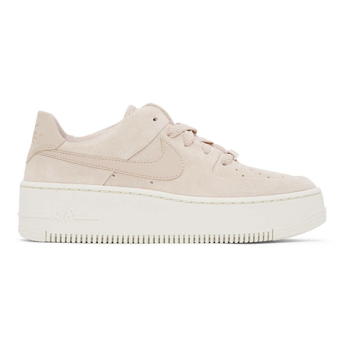 Nike Beige Air Force 1 Sage Sneakers Ssense USA WOMEN Women SHOES Womens SNEAKER