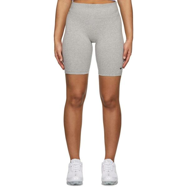 Nike Grey Leg-A-See Bike Shorts Ssense USA WOMEN Women FASHION Womens SHORTS