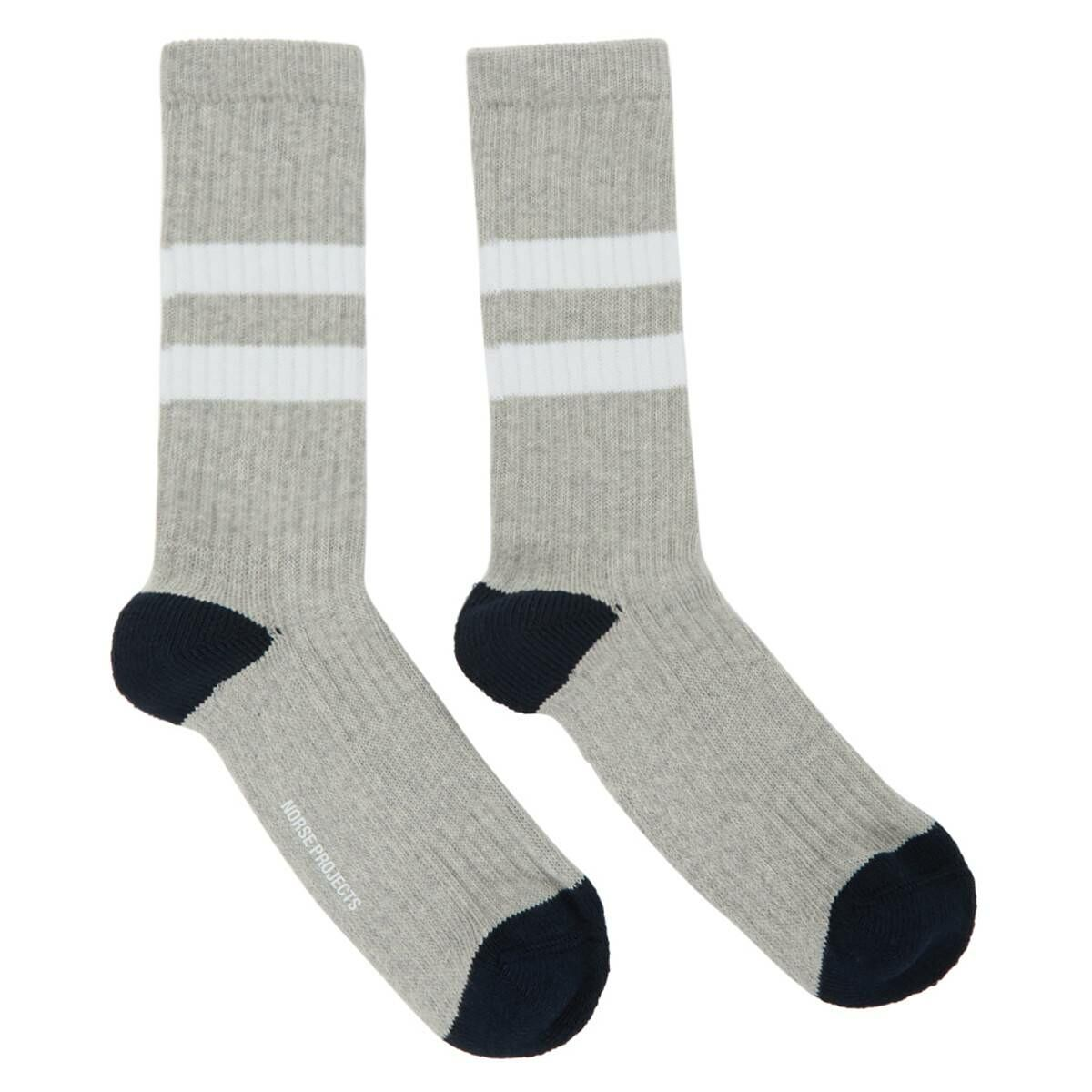 Norse Projects Grey Cotton Bjarki Sport Socks Ssense USA MEN Men ACCESSORIES Mens SOCKS