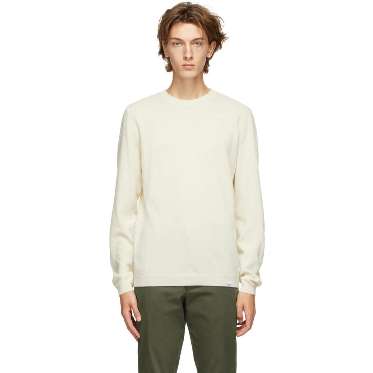 Norse Projects Off-White Light Wool Sigfred Sweater Ssense USA MEN Men FASHION Mens KNITWEAR