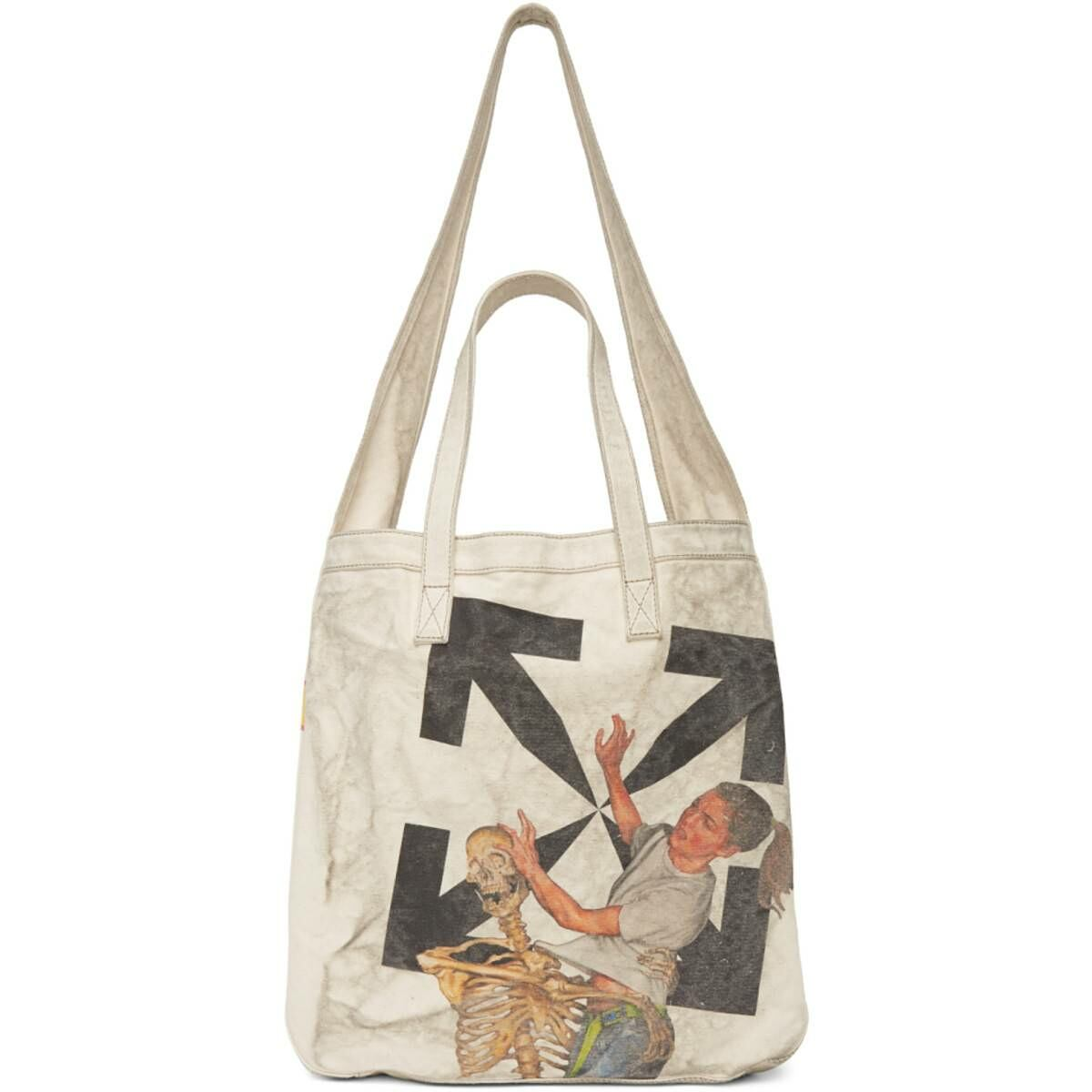 Off-White Off-White Pascal Vintage Tote Ssense USA WOMEN Women ACCESSORIES Womens BAGS