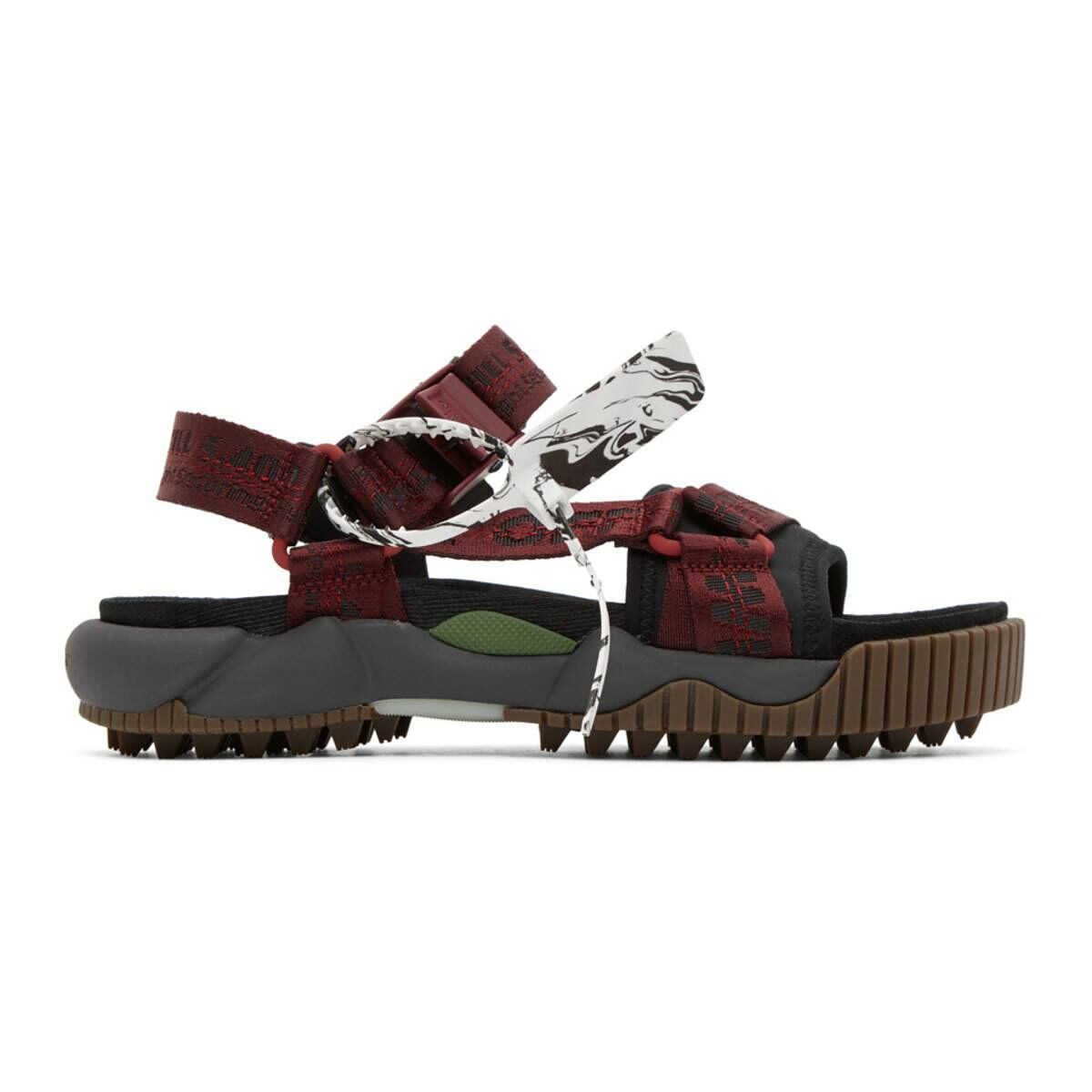 Off-White Red and Black ODSY Trekking Sandals Ssense USA MEN Men SHOES Mens SANDALS
