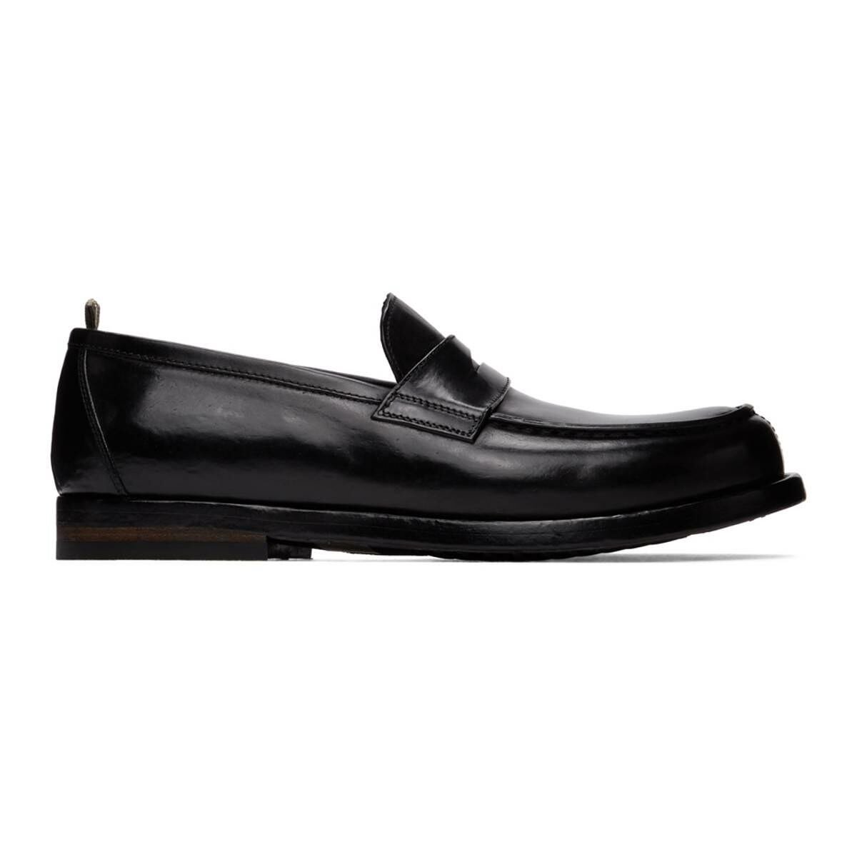 Officine Creative Black Vine 1 Loafers Ssense USA MEN Men SHOES Mens LOAFERS