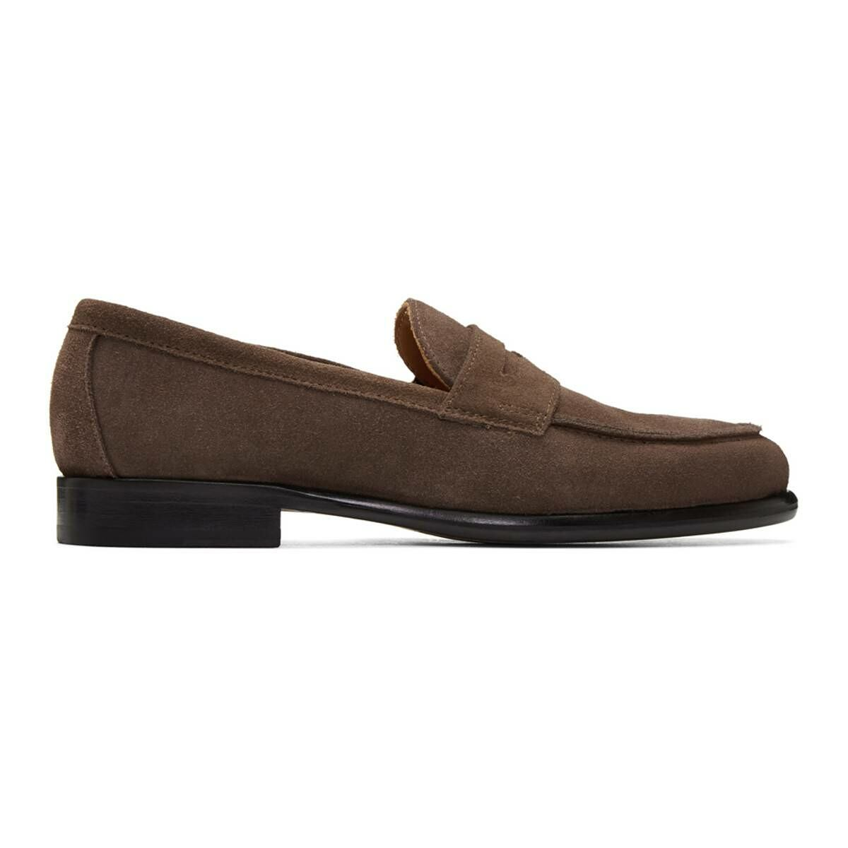 Officine Generale Brown Suede Mika Penny Loafers Ssense USA MEN Men SHOES Mens LOAFERS