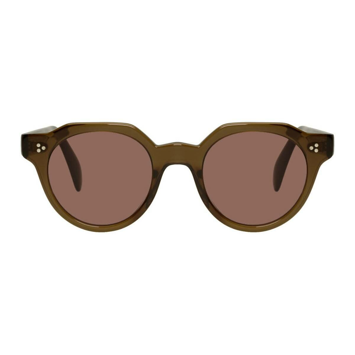 Oliver Peoples Brown and Red Irven Sunglasses Ssense USA MEN Men ACCESSORIES Mens SUNGLASSES