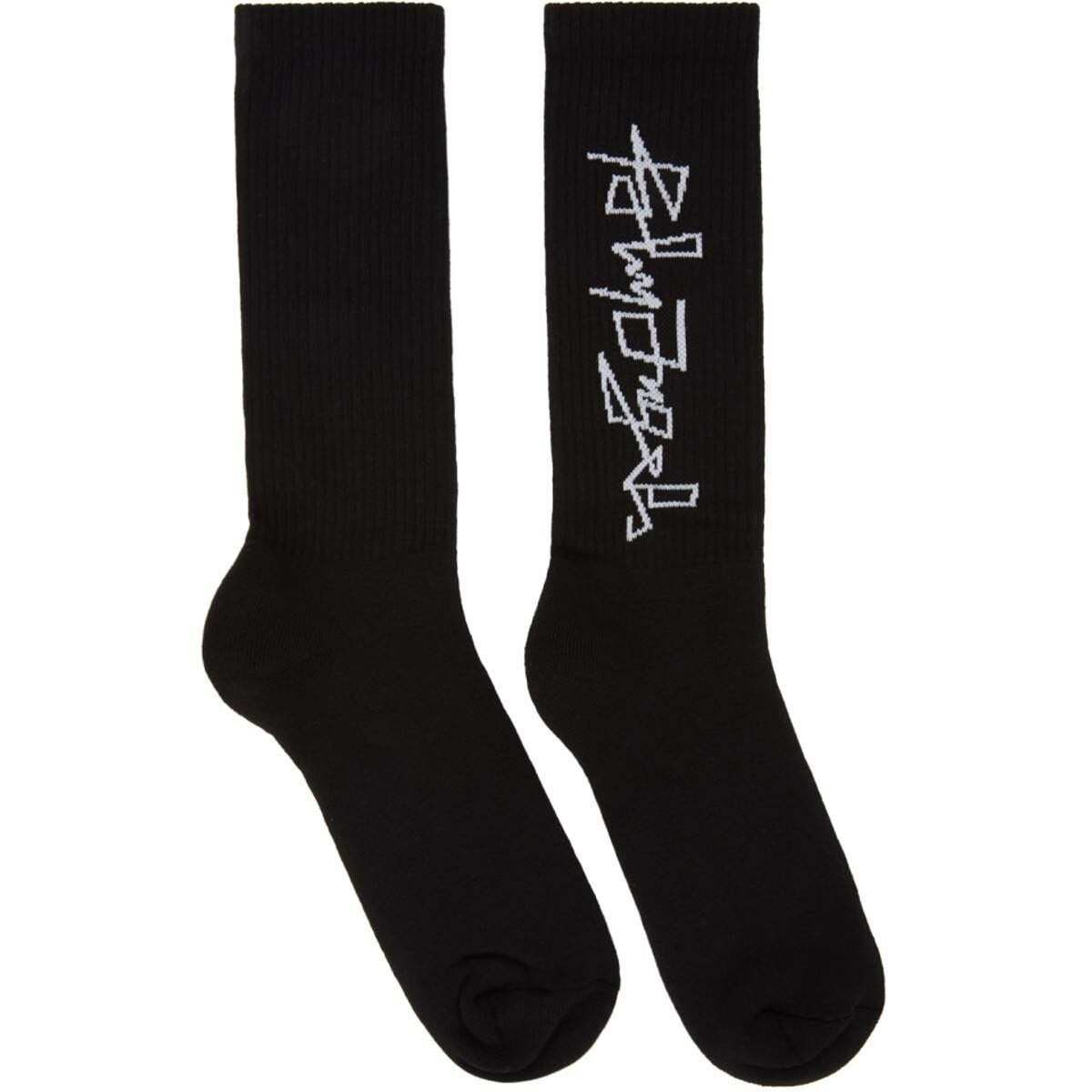 Palm Angels Black Desert Logo Socks Ssense USA MEN Men ACCESSORIES Mens SOCKS