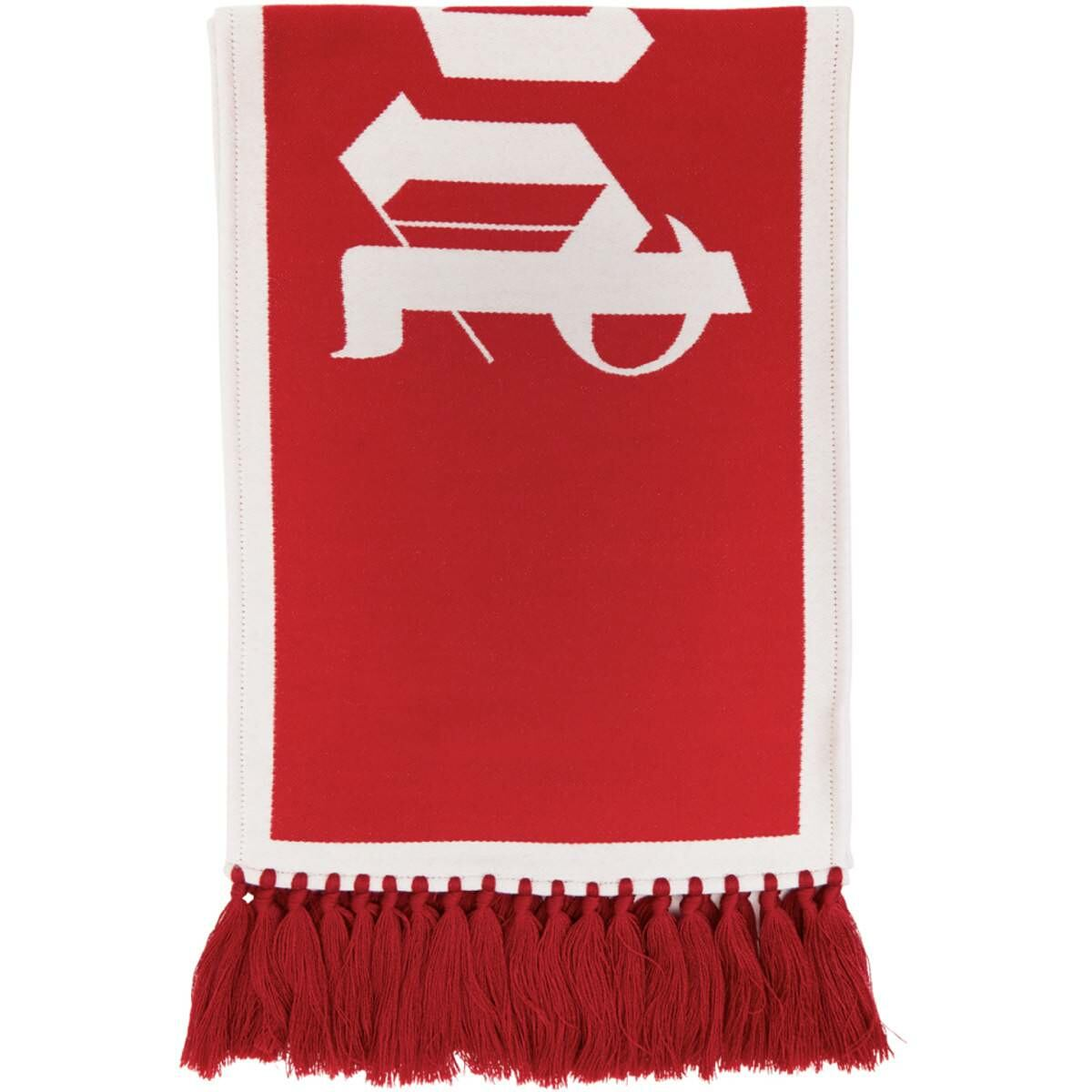 Palm Angels Red Knit Logo Scarf Ssense USA MEN Men ACCESSORIES Mens SCARFS