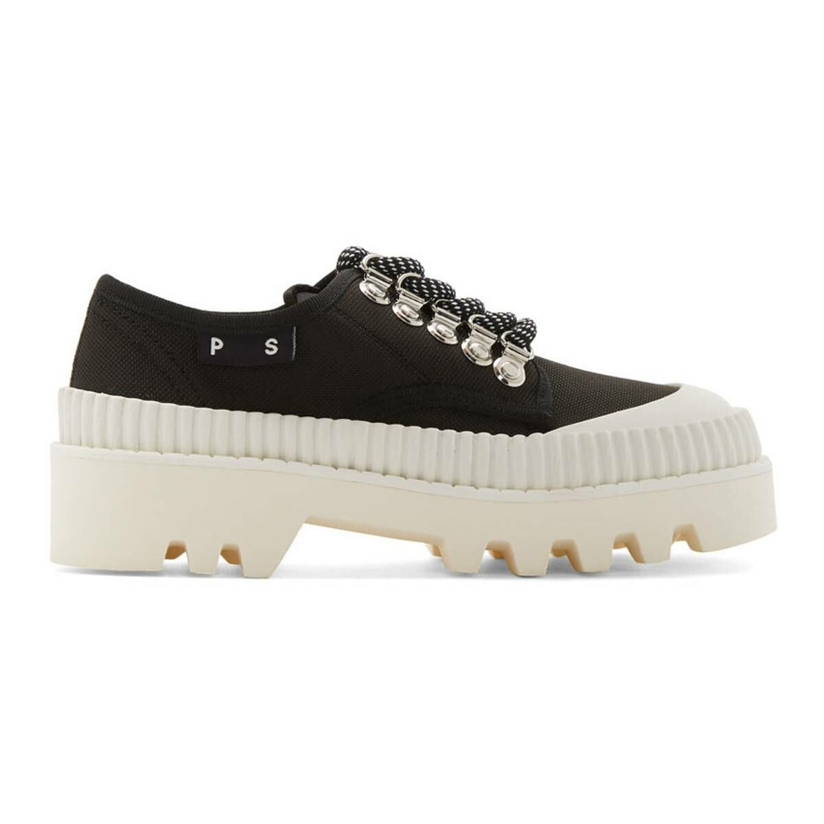Proenza Schouler Black and White Lug Sole Derbys Ssense USA WOMEN Women SHOES Womens LEATHER SHOES