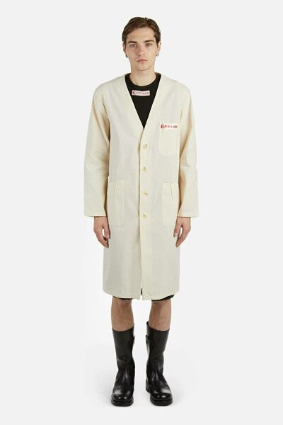 Raf Simons Coats White Men Antonioli USA MEN