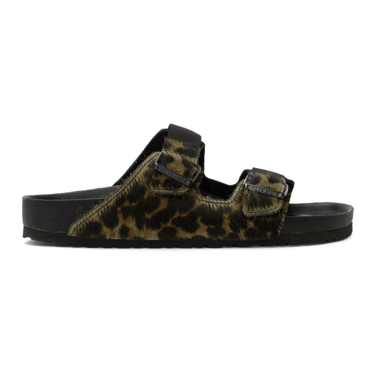 Random Identities Green Birkenstock Edition Pony Hair Leopard Arizona Sandals Ssense USA MEN Men SHOES Mens SANDALS