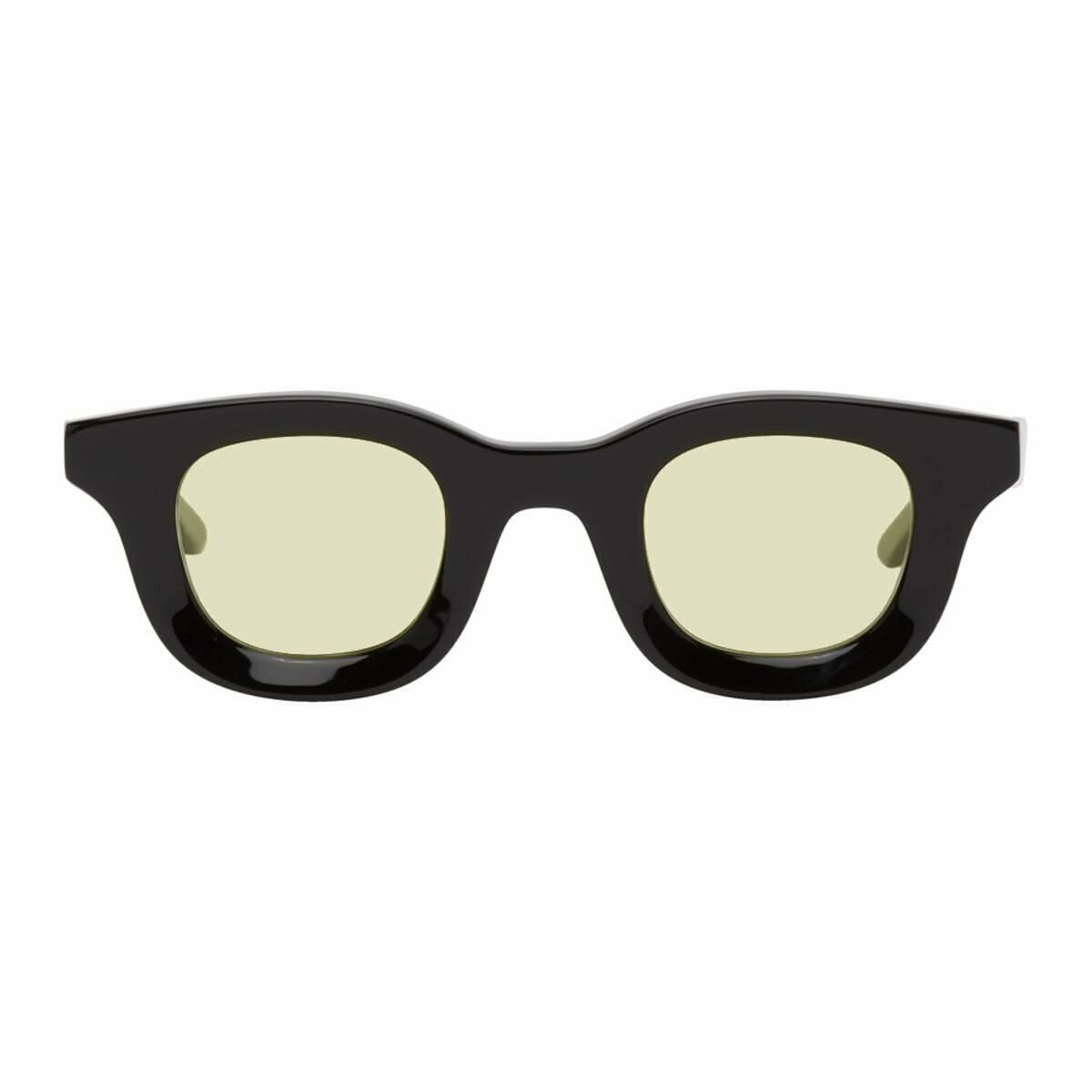 Rhude Black and Yellow Thierry Lasry Rhevision Edition 101 Sunglasses Ssense USA MEN Men ACCESSORIES Mens SUNGLASSES