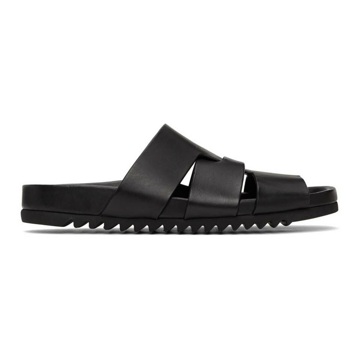 Rick Owens Black Lazarus Sandals Ssense USA MEN Men SHOES Mens SANDALS