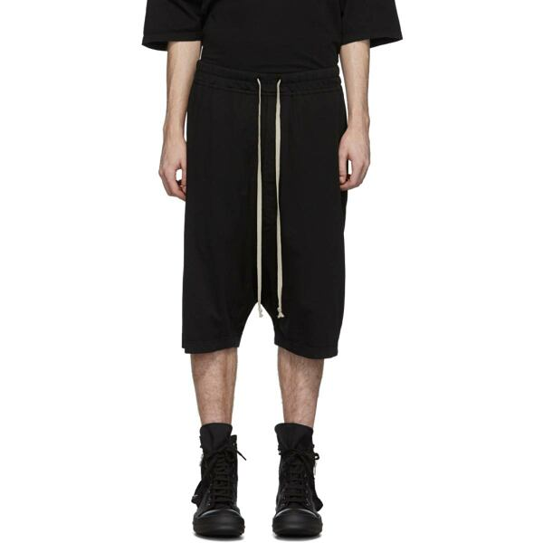 Rick Owens Drkshdw Black Pod Shorts Ssense USA MEN Men FASHION Mens SHORTS