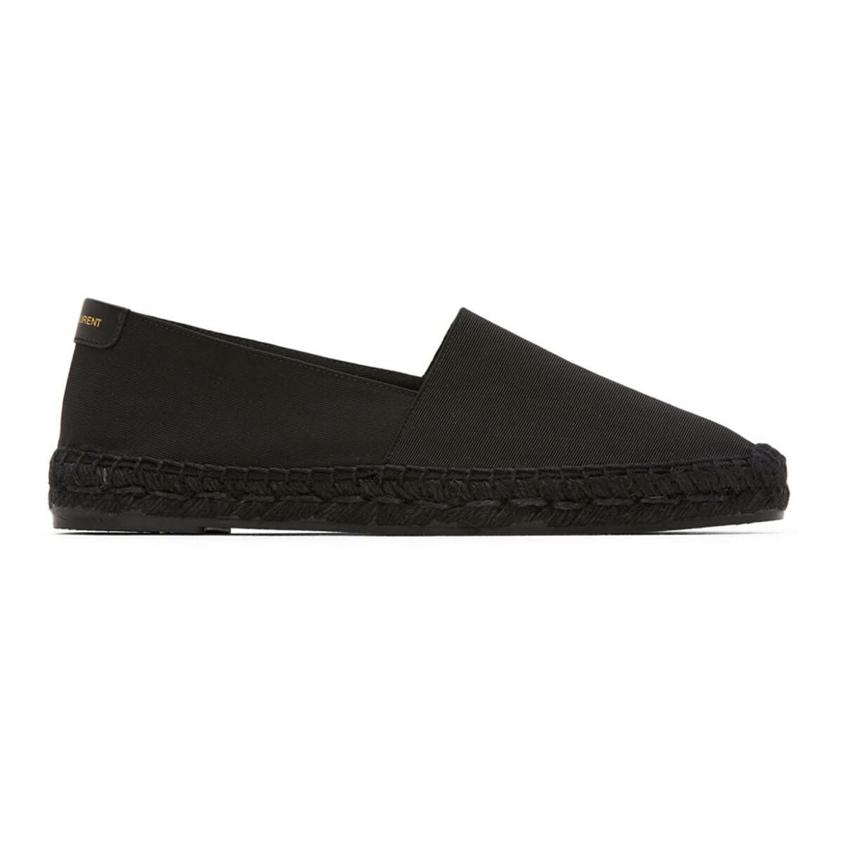 Saint Laurent Black Ottoman Espadrilles Ssense USA MEN Men SHOES Mens LOAFERS