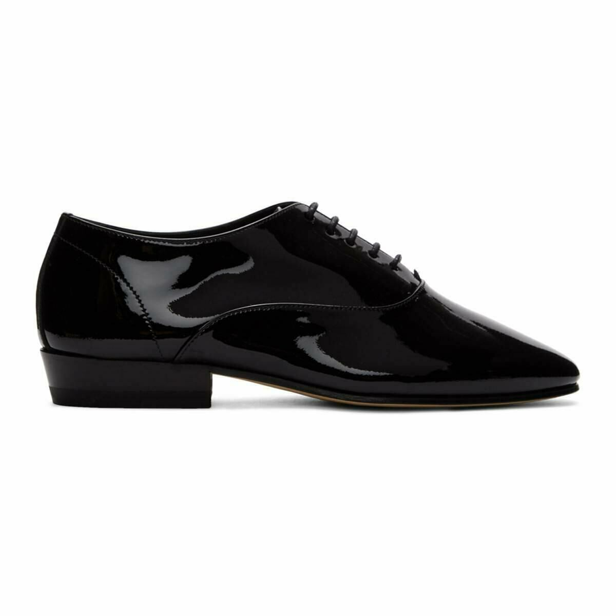 Saint Laurent Black Patent Leon Oxfords Ssense USA WOMEN Women SHOES Womens LEATHER SHOES