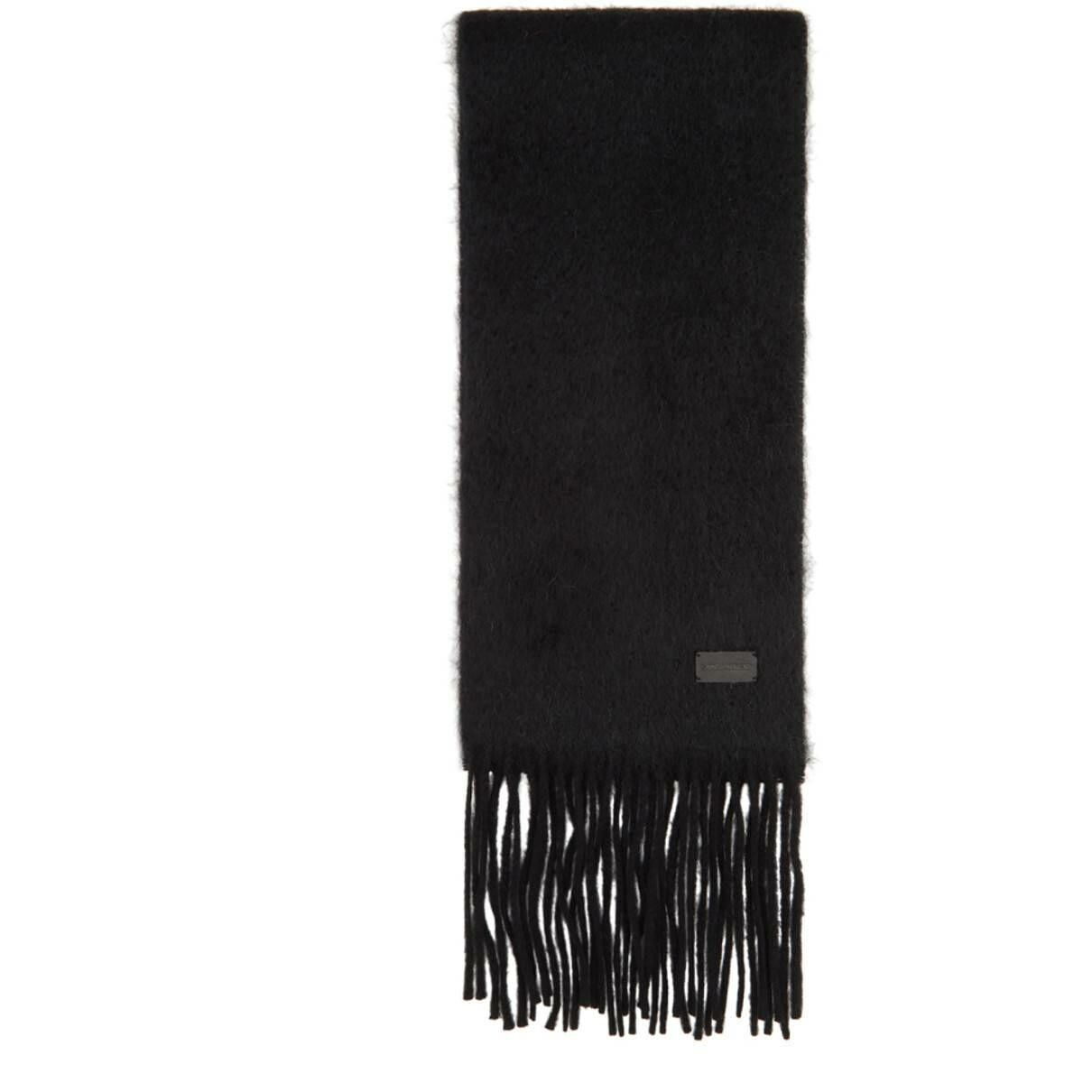 Saint Laurent Black Small Scarf Ssense USA MEN Men ACCESSORIES Mens SCARFS