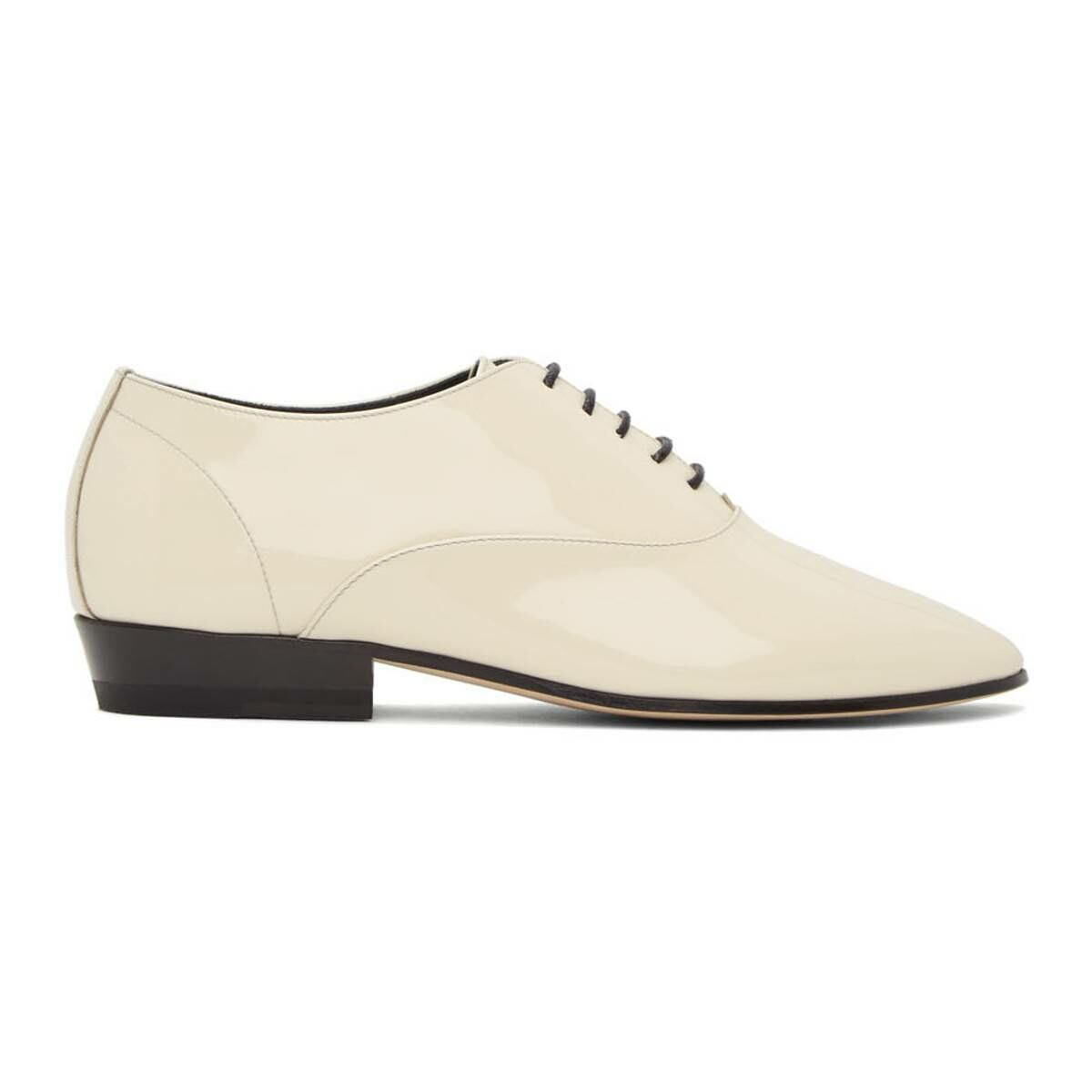 Saint Laurent Off-White Patent Marius Oxfords Ssense USA WOMEN Women SHOES Womens LEATHER SHOES