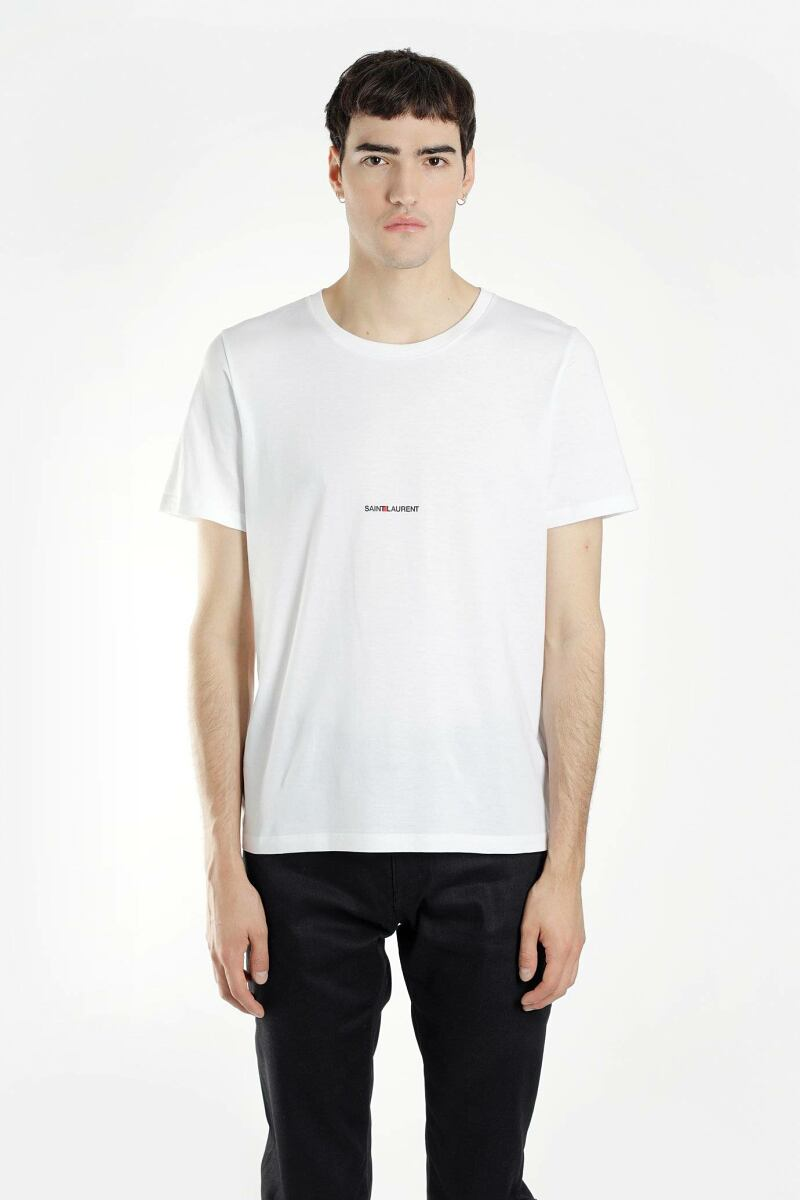 Saint Laurent T Shirts White Men Antonioli USA MEN
