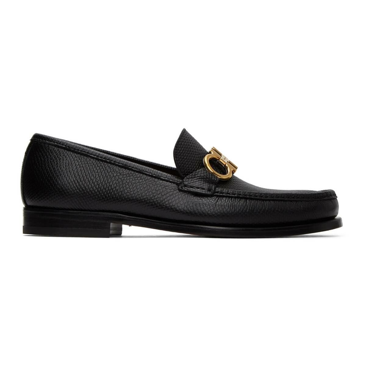 Salvatore Ferragamo Black Rolo 10 Loafers Ssense USA MEN Men SHOES Mens LOAFERS