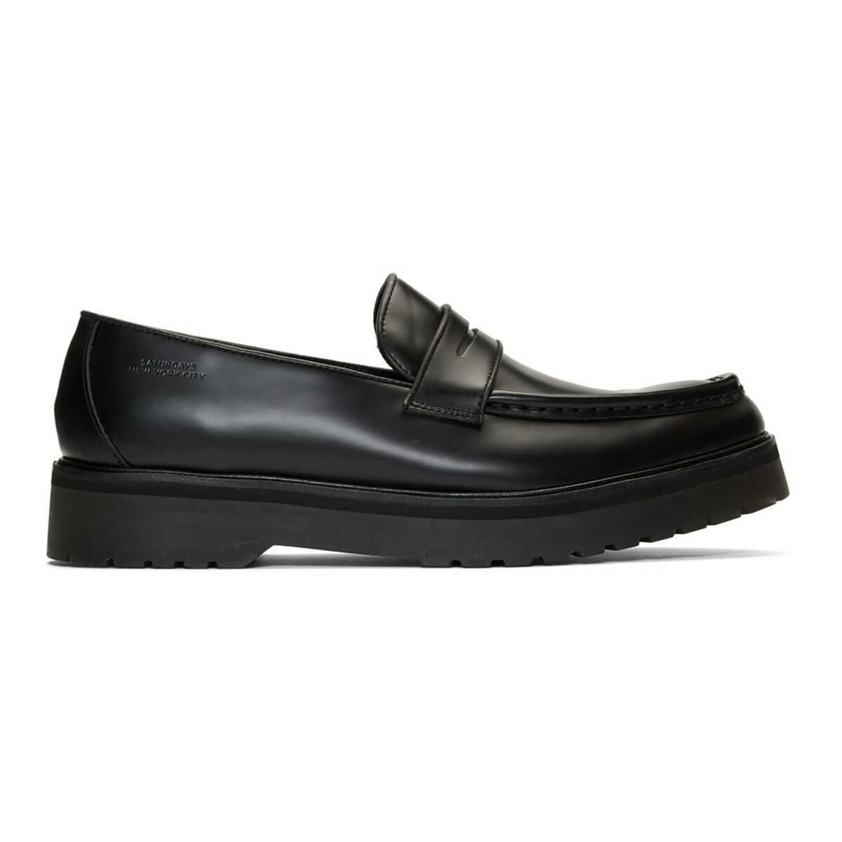 Saturdays NYC Black Idris Loafers Ssense USA MEN Men SHOES Mens LOAFERS