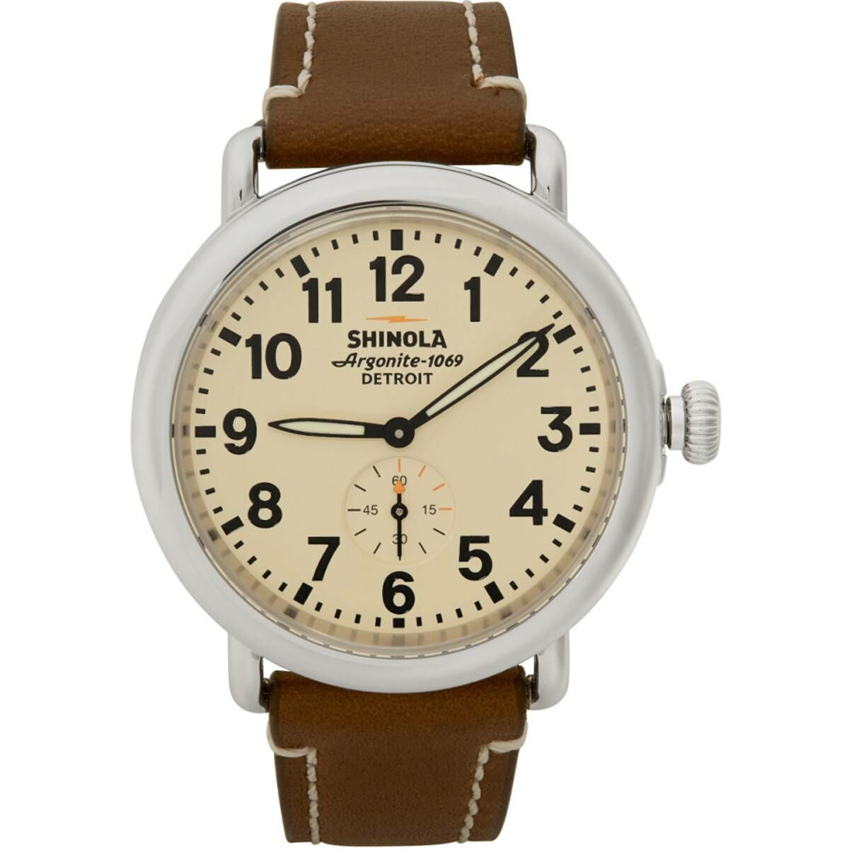 Shinola Silver and Off-White The Runwell 41mm Watch Ssense USA MEN Men ACCESSORIES Mens WATCHES
