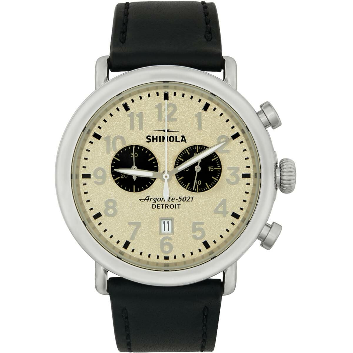 Shinola Silver and Off-White The Runwell Chrono 47mm Watch Ssense USA MEN Men ACCESSORIES Mens WATCHES